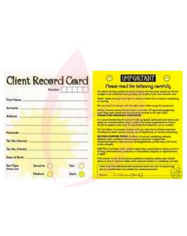 Bliss Client Record Cards 100 Pack