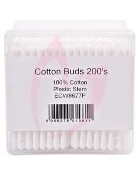 Cotton Buds Plastic Stem - Pack Of 200