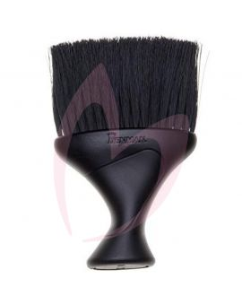 Denman D78 Black Plastic Handle Neck Brush With Black Bristles