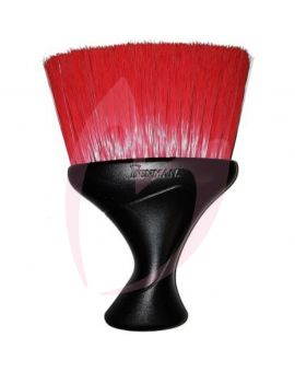 Denman D78 Red Plastic Handle Neck Brush With Black Bristles