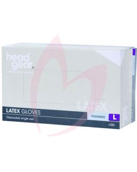 Head Gear Disposable Latex LARGE Gloves (Powdered) 100