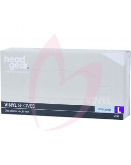 Head Gear Disposable Vinyl LARGE Gloves (Powdered) 100