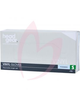 Head Gear Disposable Vinyl SMALL Gloves (Powdered) 100