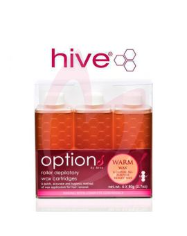 Hive Options Warm Honey Wax Cartridges 6 x 80g