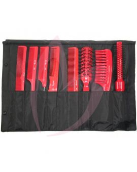 Pro Tip Tool Roll Comb and Brush Collection