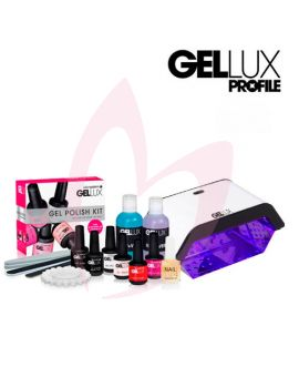 Salon System Gellux Gel Polish Kit + Mini LED Lamp