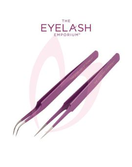 The Eyelash Emporium Midnight Shot Straight And Curved Tweezer Set