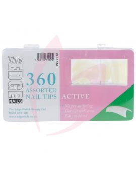 The Edge Active Nail Tips - 360 Assorted