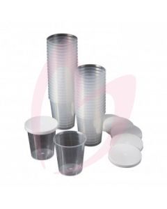 Disposable Cups WIth Lids (480)