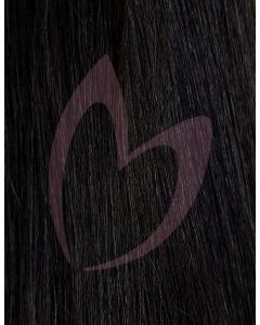 """20"""" Beauty Works (Celebrity Choice) 1g Flat Tip - #1a Natural Black x50"""