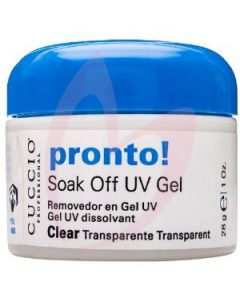 Cuccio Pronto Soak Off UV Gel Clear 28g