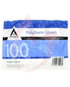 Agenda Disposable Polythene Gloves x 100