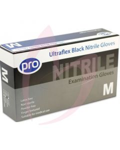 Agenda Black Nitrile Medium Gloves (Powder Free) 100