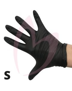 Agenda Black Nitrile Small Gloves (Powder Free) 100