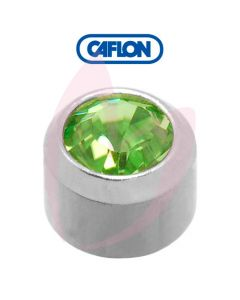 Caflon Stainless Polished Regular (August) Birth Stone