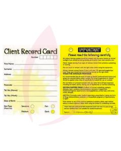 Bliss Client Record Cards 100 Pack (2019)
