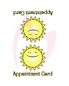 Bliss Sunbed Appointment Cards (x100 per pack)