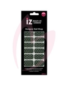 IZ Black & Gold Diamond 3D Nail Wrap