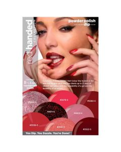 Cuccio Powder Polish 14g (0.5oz) Red Handed Collection Pk8
