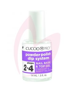 Cuccio Powder Polish Nail Base & Top Gel 14ml (Step 2 & 4)