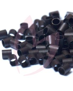 Mini Flatlock Tubes - Dark Brown x100