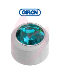 Caflon Stainless Polished Regular (December) Birth Stone