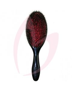 Denman D81L Large Cushion Natural Bristle Single Nylon Quill Brush