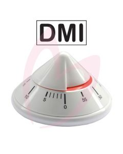 DMI Pyramid Mechanical Timer - 60 Minute (WHITE)