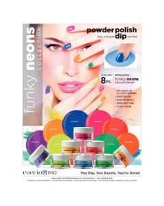Cuccio Powder Polish 14g (0.5oz) Funky Neons Collection Pk8
