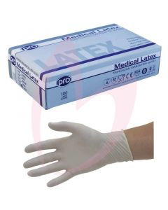 Agenda Disposable Latex MEDIUM Gloves (Powder Free) 100