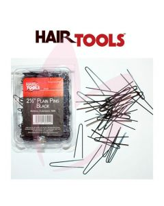 "Hair Tools 2.5"" Plain Pins Black (500)"