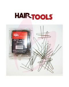 "Hair Tools 2.5"" Plain Pins Brown (500)"