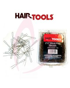 "Hair Tools 2.5"" Wave Pins Brown x1000"