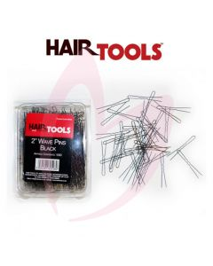 "Hair Tools 2"" Wave Pins Black x1000"