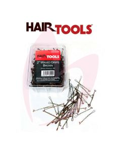 "Hair Tools 2"" Waved Grips Brown (500)"