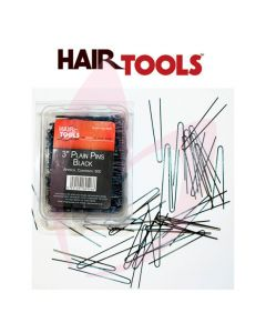 "Hair Tools 3"" Plain Pins Black (500)"