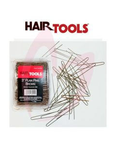"Hair Tools 3"" Plain Pins Brown (500)"
