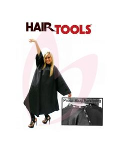 Hair Tools Black Sleeved Gown (with Poppers)