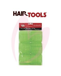 Hair Tools Cling Rollers - Jumbo (Green 61mm) Pk6