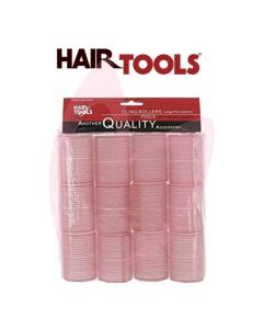 Hair Tools Cling Rollers - Large (Pink 44mm) Pk12