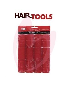 Hair Tools Cling Rollers - Large (Red 36mm) Pk12