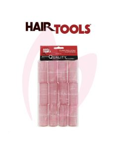 Hair Tools Cling Rollers - Small (Pink 25mm) Pk12