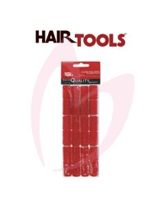 Hair Tools Cling Rollers - Small (Red 13mm) Pk12