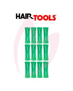 Hair Tools Rollers With Pins - Green 18mm (Pk12)