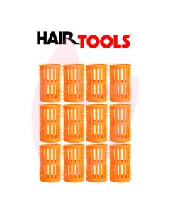Hair Tools Rollers With Pins - Peach 40mm (Pk12)