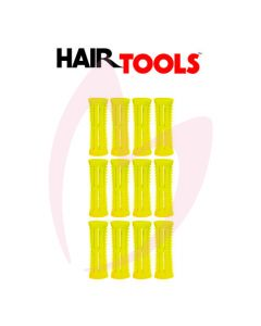 Hair Tools Rollers With Pins - Yellow 22mm (Pk12)