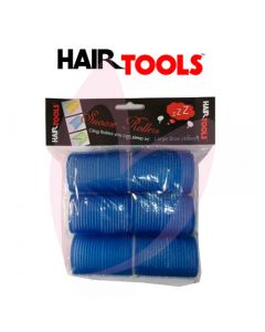 Hair Tools Snooze Rollers - Large Blue 40mm (Pk6)