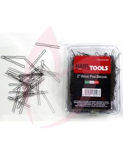 "Hair Tools 2"" Wave Pins Brown x1000"