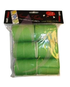 Hair Tools Snooze Rollers - Large Green 48mm (Pk6)