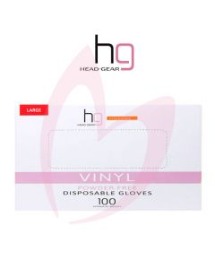 Head Gear Disposable Vinyl LARGE Gloves (Powder Free) 100